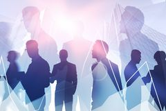Business team and virtual graph concept royalty free stock photos