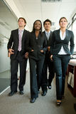 Business team walking Royalty Free Stock Images
