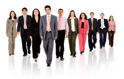 Business team walking forward Royalty Free Stock Image