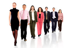 Business team walking forward Royalty Free Stock Photos