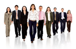 Business team walking forward Stock Photos