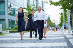 Business team walking their way royalty free stock photo