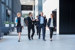 Business team walking together royalty free stock photography
