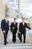 Business Team walking up Stairs Stock Photography