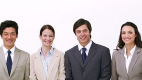 Business team walks and poses Stock Photos