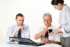 Business team on a white Royalty Free Stock Photos