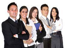 Business team on white Royalty Free Stock Image