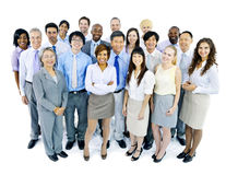 Business Team on White Background Stock Photo