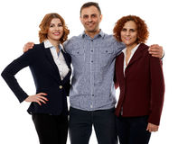 Business team on white Royalty Free Stock Photography