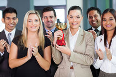 Business team winning. Happy business team winning a competition Stock Photos