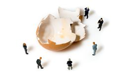 Business Team With A Egg Royalty Free Stock Photos
