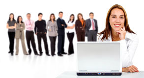 Business team with woman Stock Images
