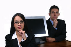 Business team woman and man. Business team ready to work Stock Photo