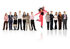 Business team - woman standing out Stock Photography