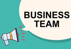 Business team word with megaphone illustration graphic design Royalty Free Stock Photos