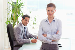 Business team at work. Young business team at work Royalty Free Stock Photography