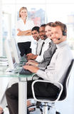 Business team at work. Young business team at work Stock Photography