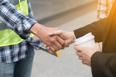 Business team work concept : business people hold hand together. Professional agreement partnership community ,selective focus Royalty Free Stock Photos