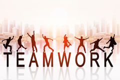 Business team work concept royalty free illustration