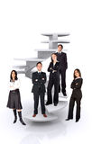 Business team work - corporate ladder Stock Image