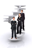 Business team work - corporate ladder Stock Images