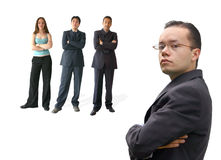 Business team work - man in glasses Royalty Free Stock Images