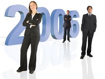 Business team work for the new year Royalty Free Stock Images