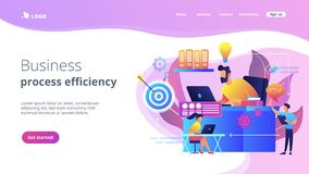 Workflow concept landing page. royalty free stock images