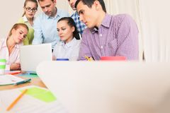 Business team work together royalty free stock photos