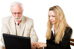 A business team working (1) Stock Image