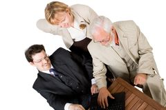 A business team working Royalty Free Stock Images