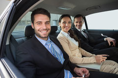 Business team working in the back seat Stock Photos