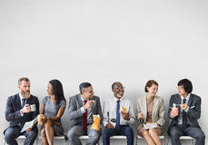 Free Business Team Working Break Eating Lunch Concept Royalty Free Stock Photos - 80331948