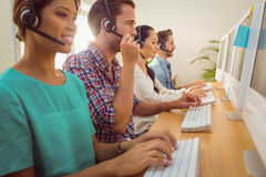 Business team working at the call centre Stock Photography