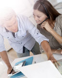 Business team working on commercial prospection Royalty Free Stock Photos
