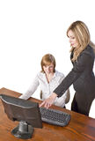 Business team working on computer Stock Photo