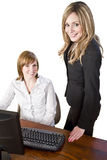 Business team working on computer Stock Images