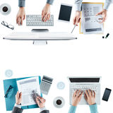 Business team working at desk Royalty Free Stock Image