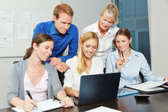 Business team working at laptop computer Royalty Free Stock Images