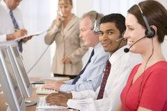 Business team working in office stock photo