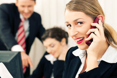 Business team working in the office Royalty Free Stock Photography