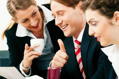 Business team working in the office Stock Photography