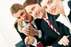 Business team working in the office Royalty Free Stock Photo