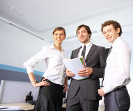 Business team working at office royalty free stock image