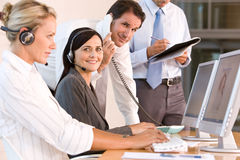 Business team working in office Stock Image