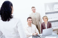 Business team working in office royalty free stock photo