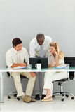 Business team working in an office Stock Images