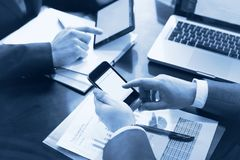 Financial analytics in business Stock Photo