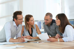 Business team working at office Stock Photos