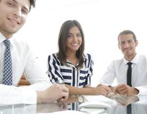 Business team working in office. stock image